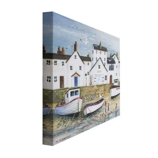 Frameless Malerei - Druck auf Leinwand - 101567, Harbourside , Wall Art, Graham Brown