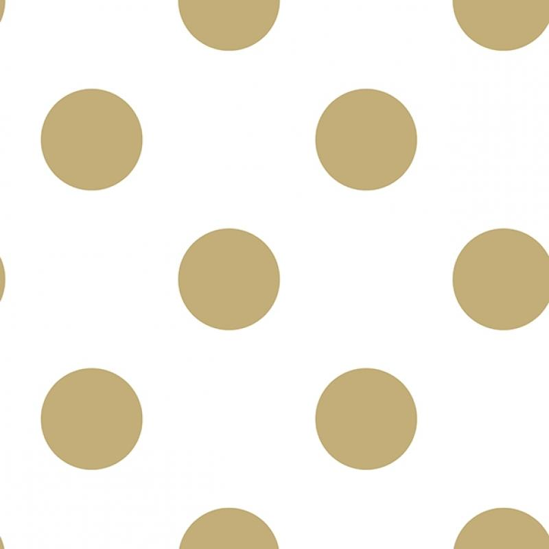 Vlies Kindertapete - Children's Wallpaper 100105, Gold Dotty, Kids@Home 6, Graham & Brown