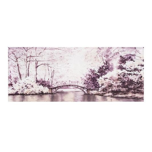 Frameless Malerei - Druck auf Leinwand Watercolour Forest Bridge 41-824, Wall Art, Graham