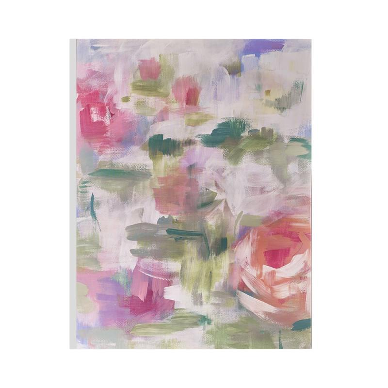 Frameless Malerei - Druck auf Leinwand Abstract Blossoms 104586, Wall Art, Graham Brown