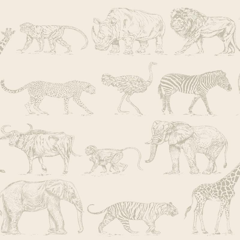 Vlies Kindertapete - Children's Wallpaper 104894, Safari, Kids-Home 6, Graham & Brown