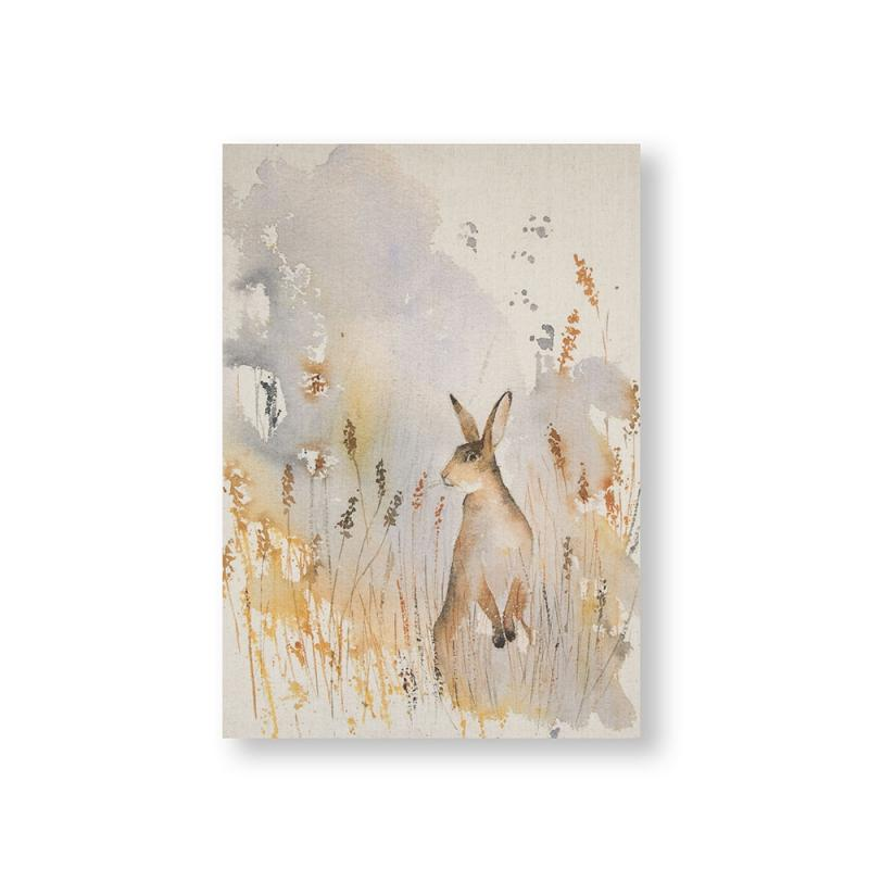 Frameless Malerei - Druck auf Leinwand - 105386, Meadow Hare, Graham & Brown