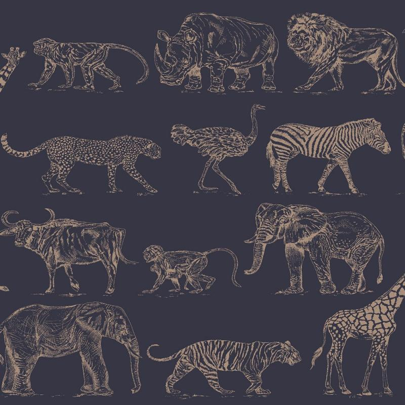 Vlies Kindertapete - Children's Wallpaper 104893, Safari, Kids-Home 6, Graham & Brown