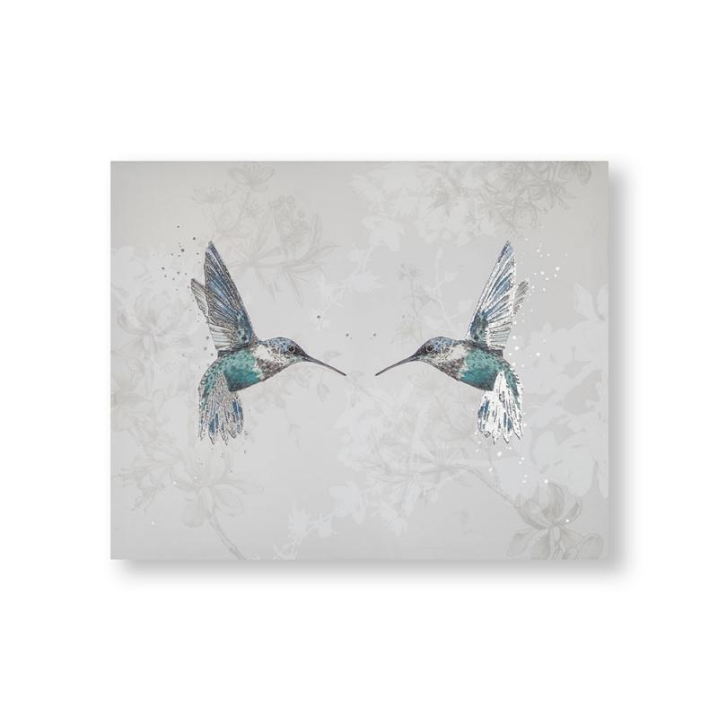 Frameless Malerei - Druck auf Leinwand 105389, Hummingbirds, Graham & Brown
