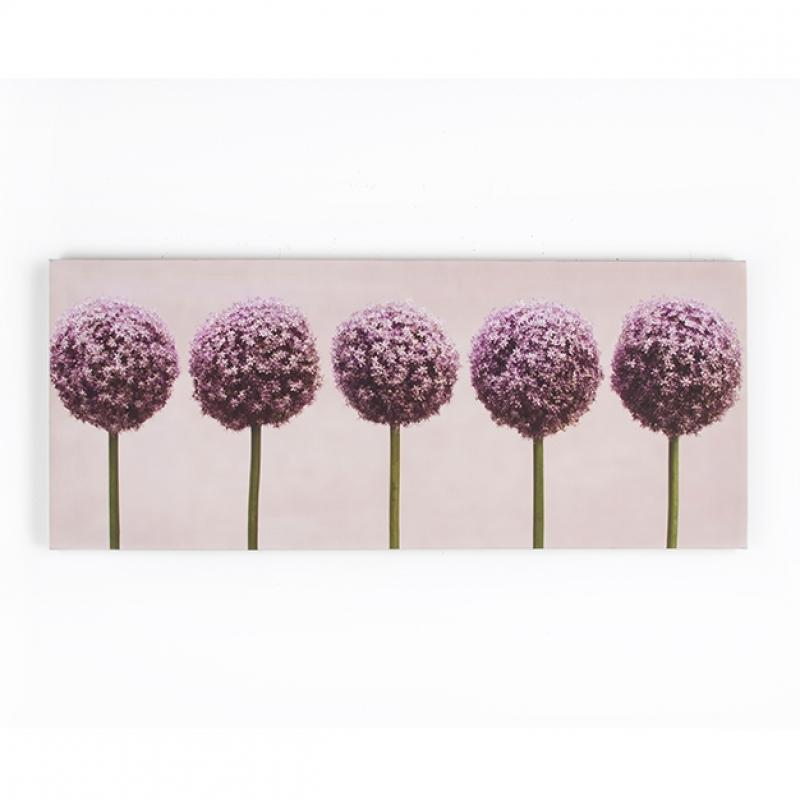 Frameless Malerei - Druck auf Leinwand 40-234, Row of Alliums, Wall Art, Graham Brown