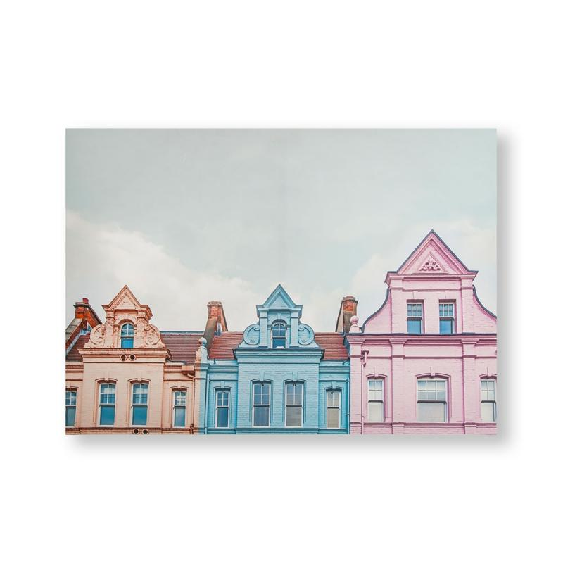 _Frameless Malerei - Druck auf Leinwand - 105884, Pretty Pastel Skyline, Graham & Brown